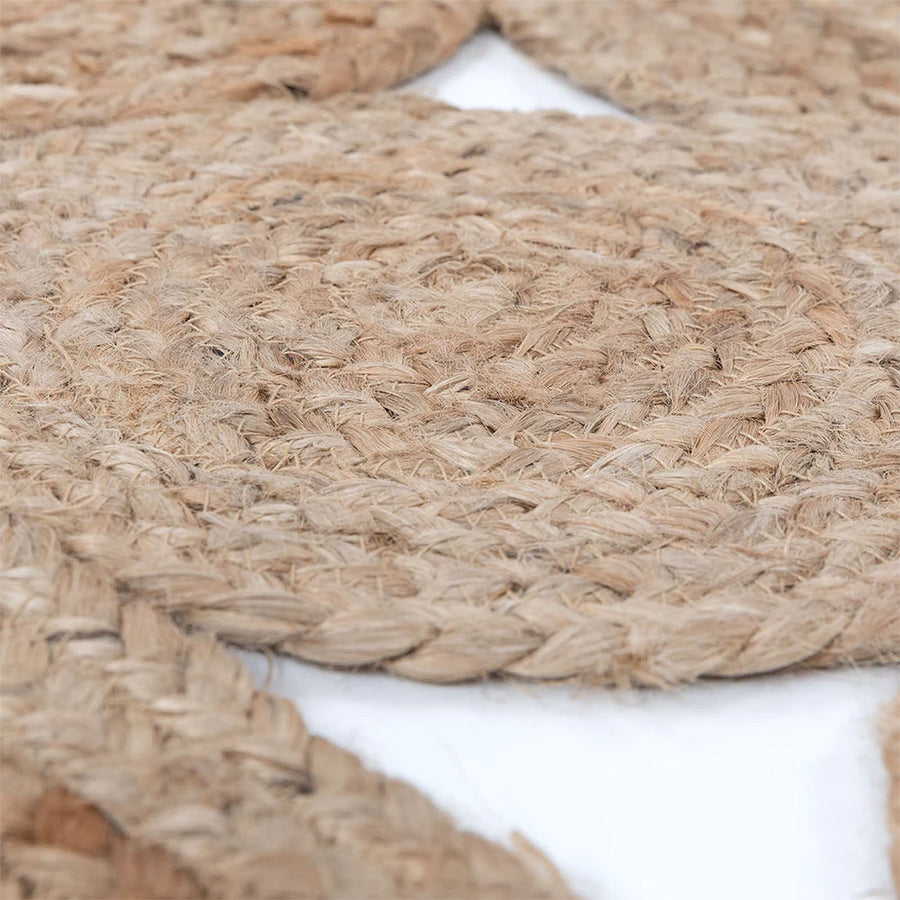Pre-Order 50 days delivery   D275cm Braided Round handmade Wool Rug Jute JH-2696