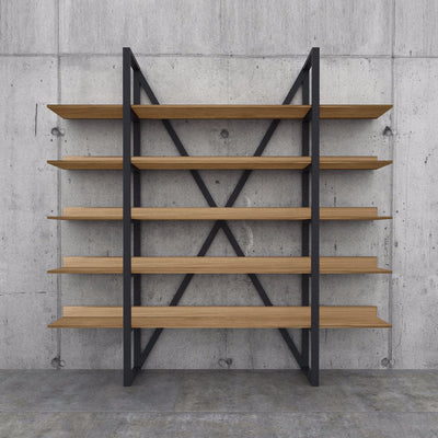 Vintage Industrial  Solid wood shelf SHX001 - ebarza