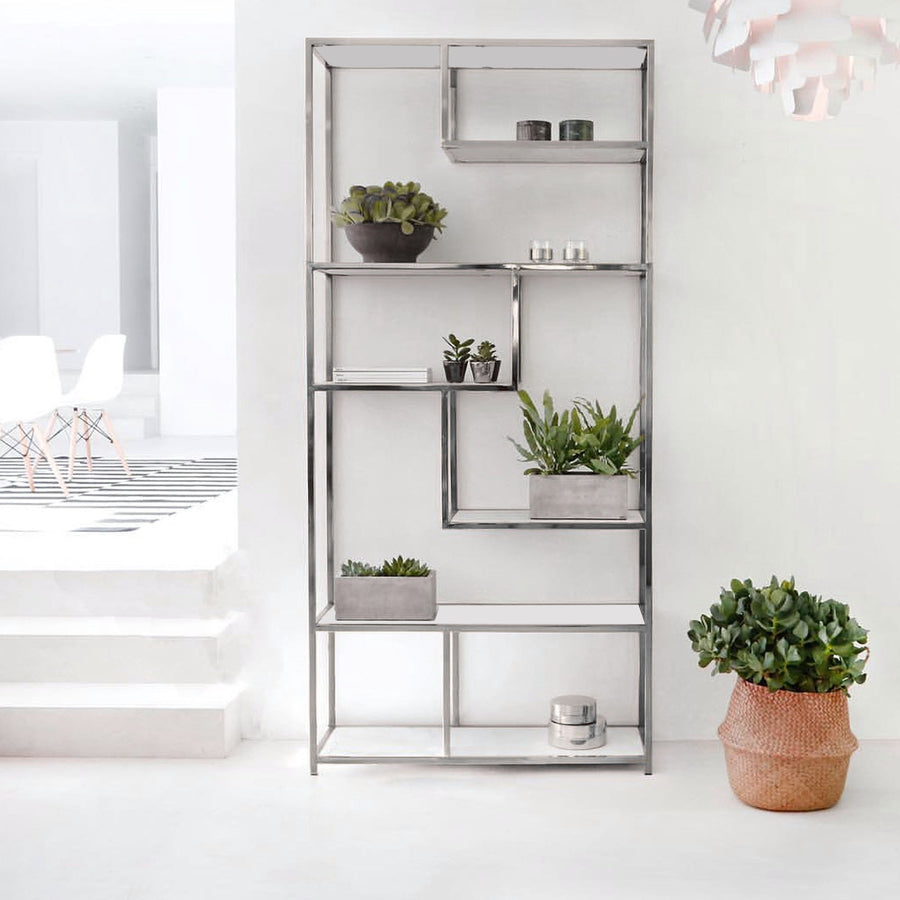 stainless Bookcase AE001-M-C