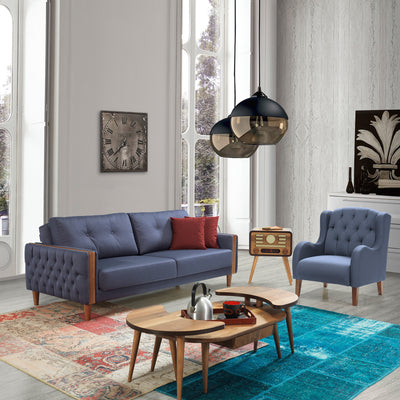 3+1 Set of 1 Ege Sofabed+ 1 armchairs   EGE005BS - ebarza