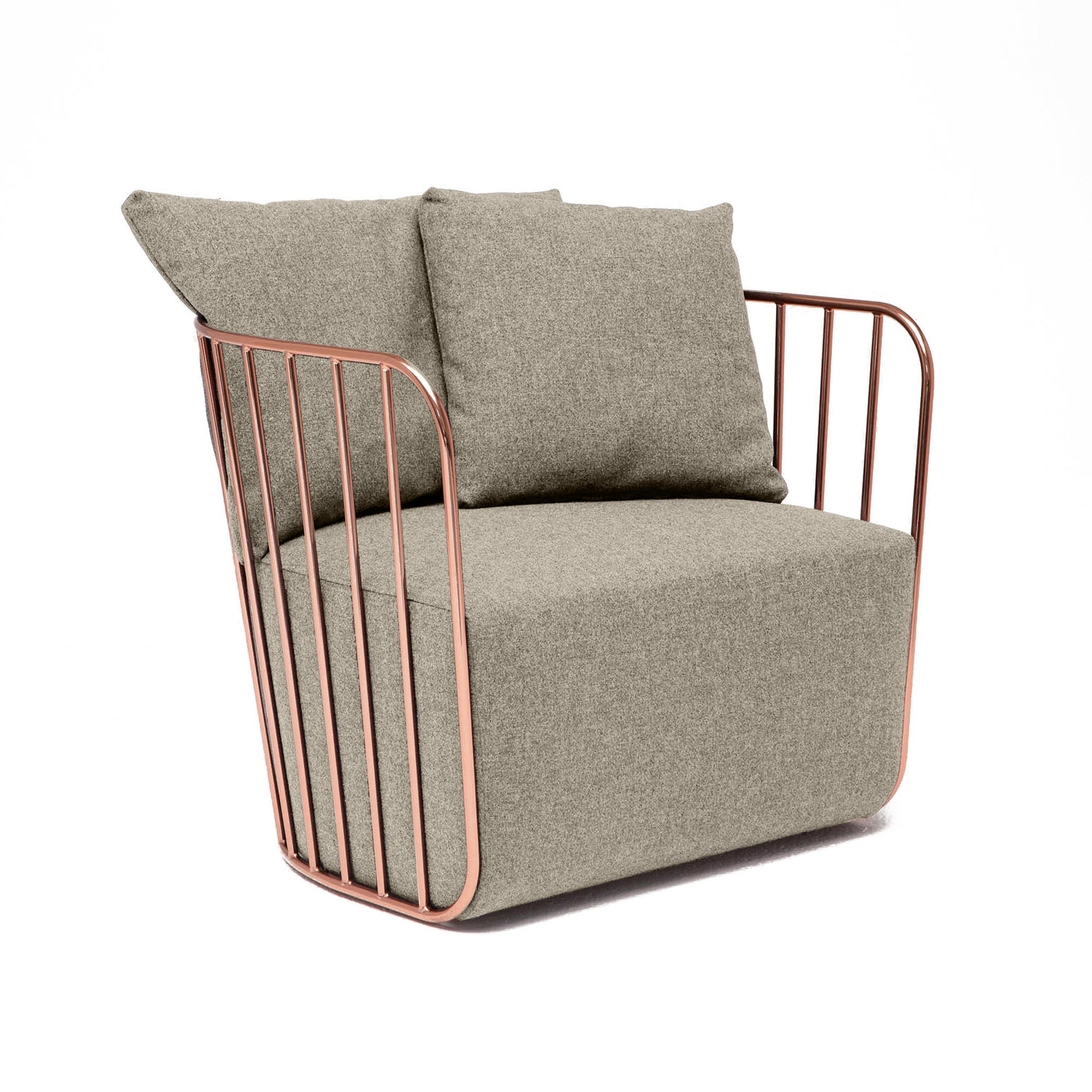 Sofa - Torino Stainless Steel  Armchair   TRA001RG