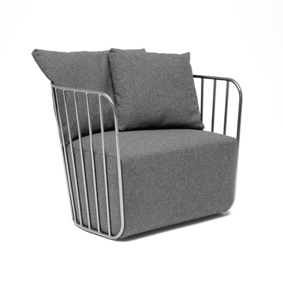 Sofa - Torino Stainless Steel  Armchair    TRA003C