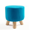Solid wood round stool with washable cover ST001-B - ebarza