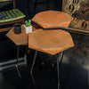 set of 3 VIRUS SERVICE tables rusty