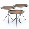 Set of 3 Broklyn Solid wood Side table  BROset -001