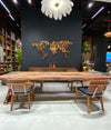 Pre-Order 50 days delivery 350X100 CM LIVE EDGE RESIN DINING TABLE TOP SAN350X100