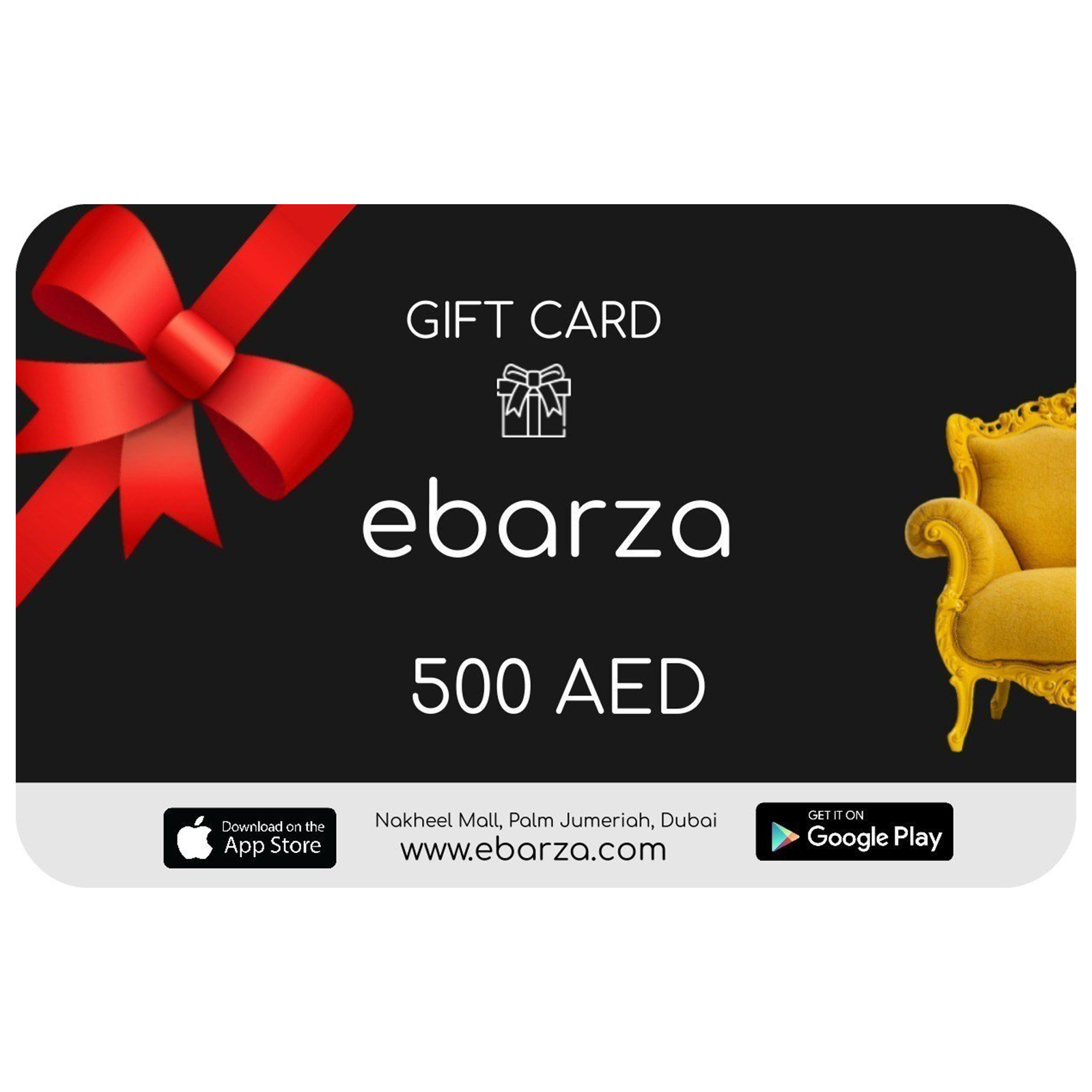 Gift Card -  بطاقه هديه - Shop Online Furniture and Home Decor Store in Dubai, UAE at ebarza
