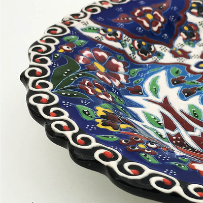 Handmade  Kutaya Turkish ceramic plate  KUC025