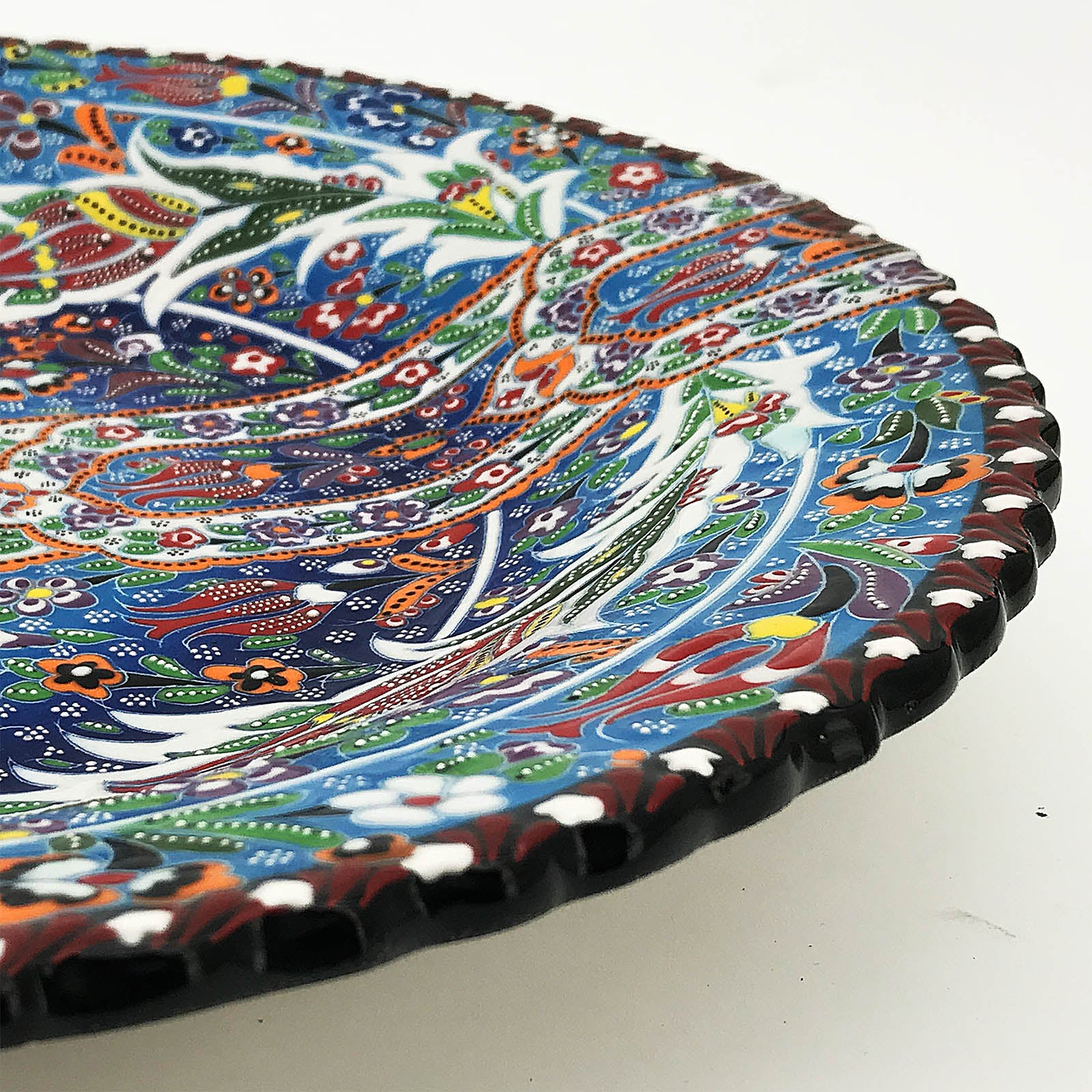 Handmade  Kutaya Turkish ceramic plate  KUC024