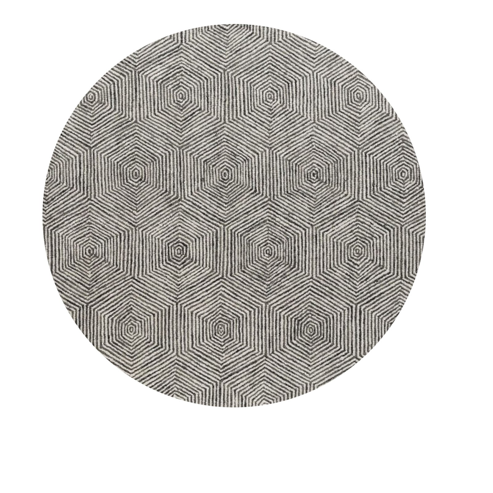 Pre-Order 40 days delivery  D250cm HANDMADE WOOL rug Warta-WT-05-White-round250