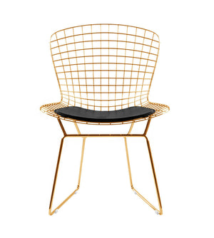 Wire Chair& Genuin leather Cushion BP8020-G