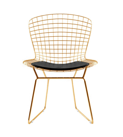 Wire Chair& Genuin leather Cushion BP8020-G - ebarza