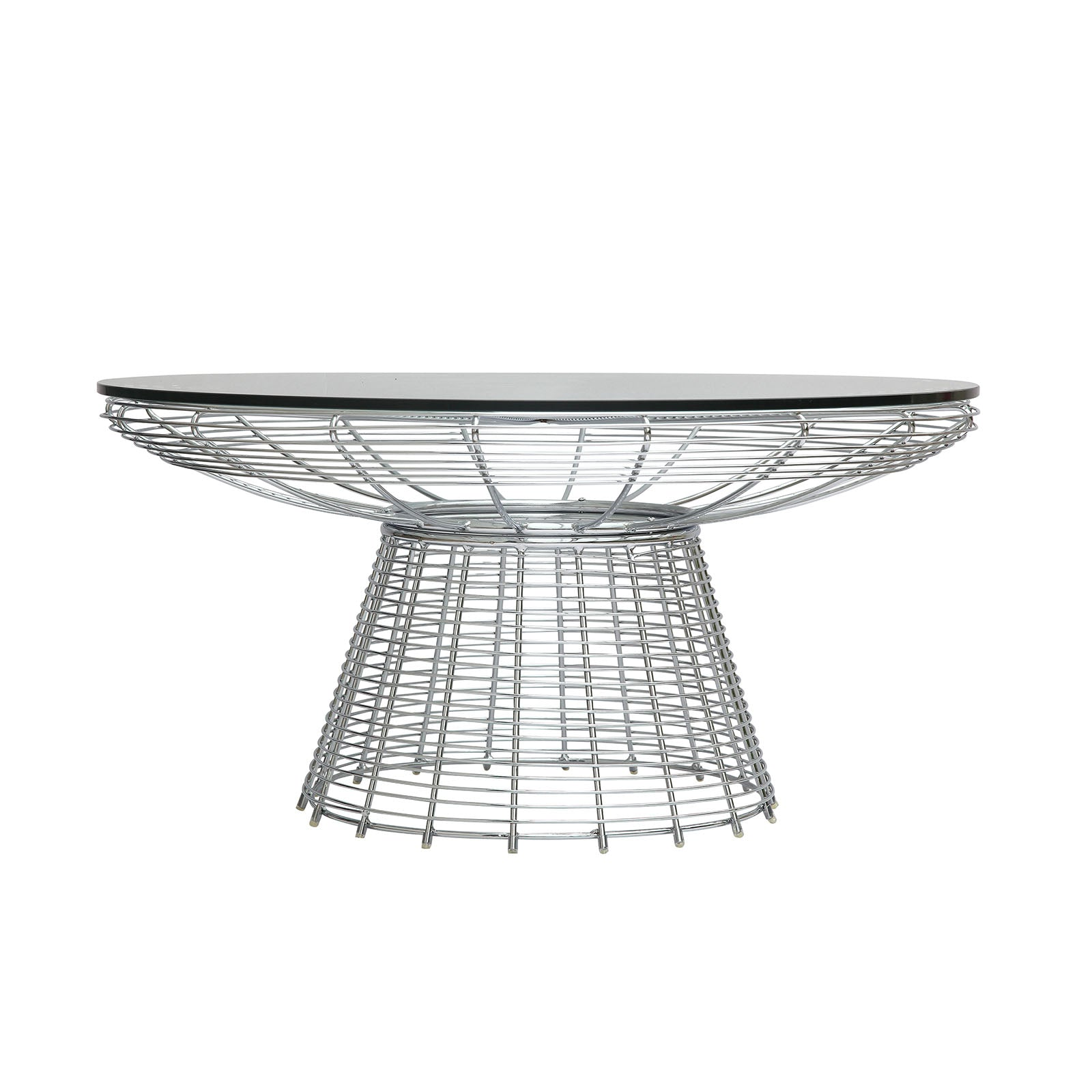 Wire table& glass top  BP8082-C - ebarza