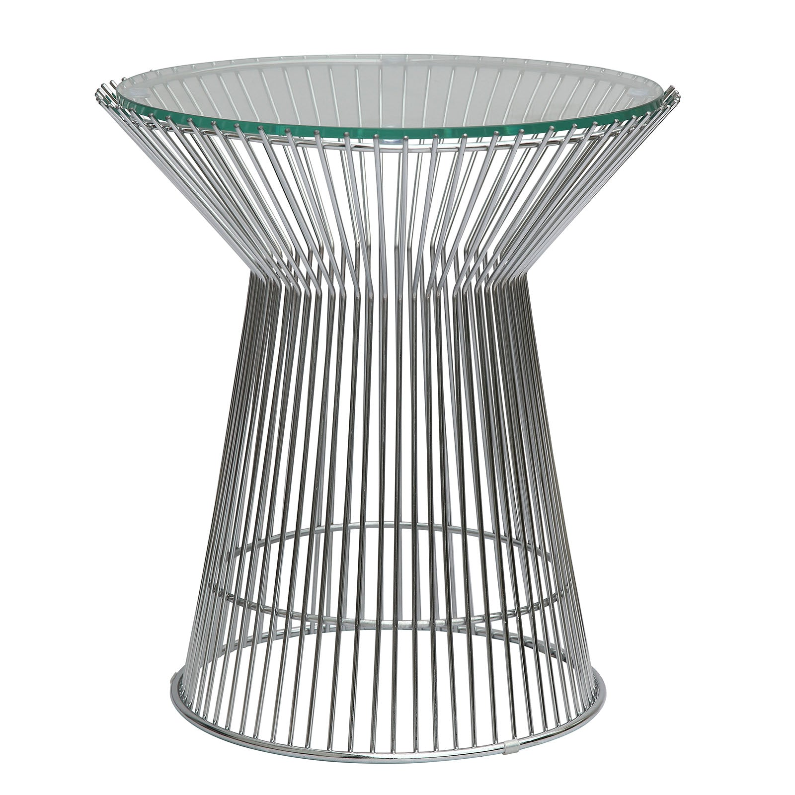 Wire table& glass top  BP7004 - ebarza