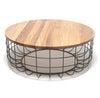 Wire table with Solid wood top BP8805BXL - ebarza