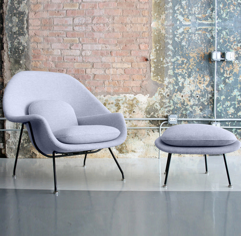 Womb Lounge Chair replica eero saarinen womb chair and footstool premium - wool