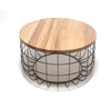 Wire table with Solid wood top BP8805B - ebarza