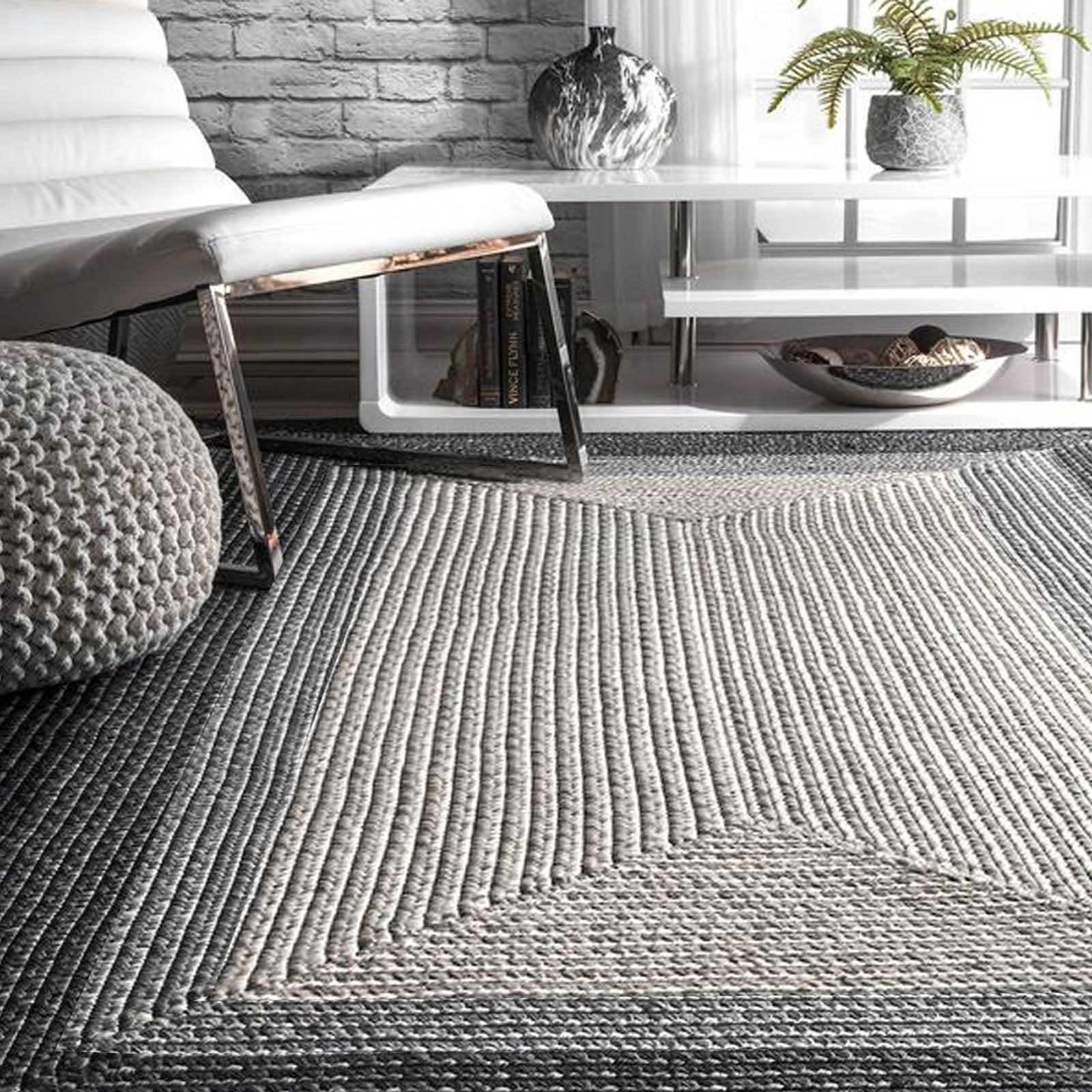 300X200 cm Braided handmade Jute Rug JH-2347-XL -  300X200 سم سجادة من الجوت مضفر يدويًا - Shop Online Furniture and Home Decor Store in Dubai, UAE at ebarza