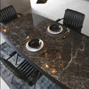 Hedra Table natural marble top    Hedra002