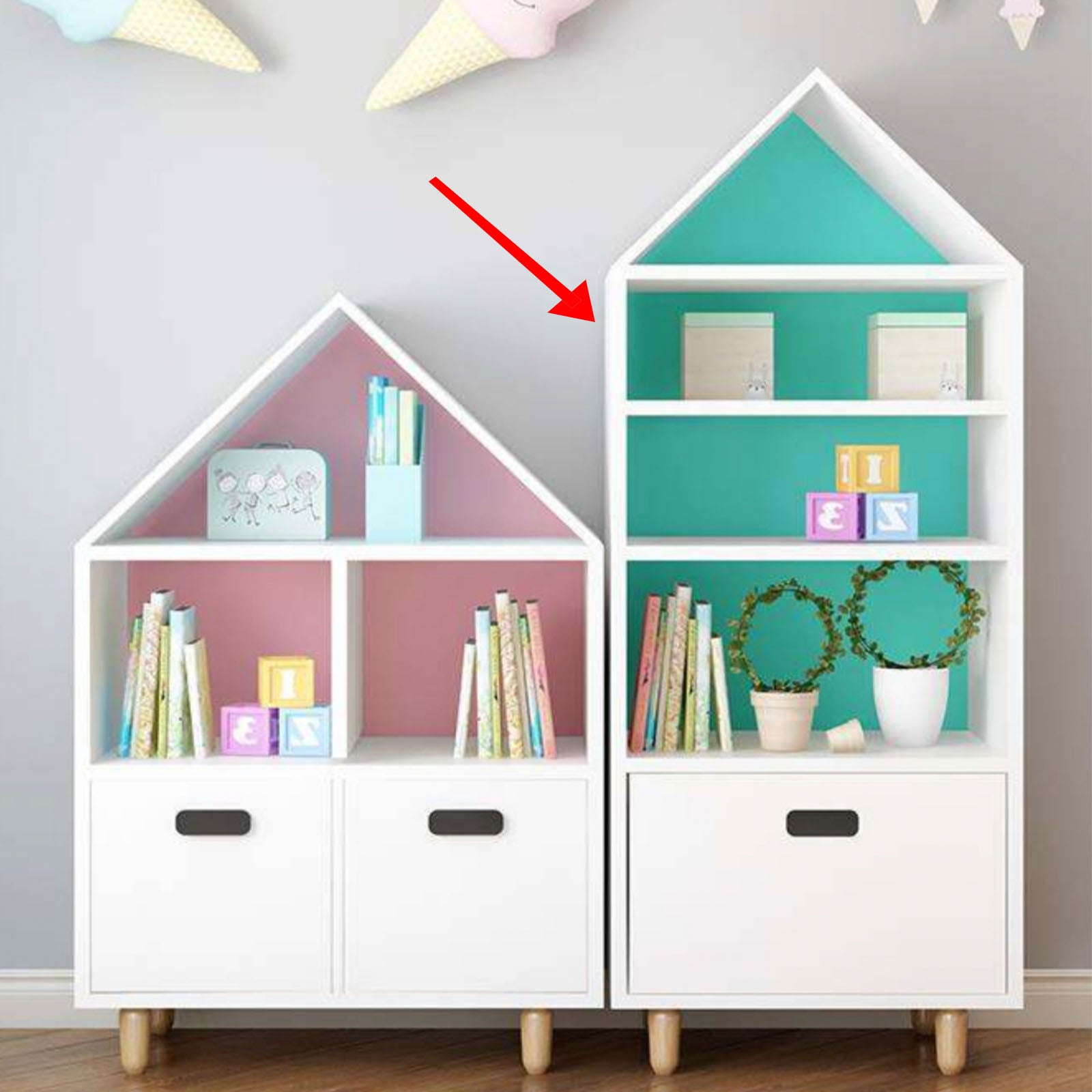 Pre-Order 70 days delivery Kids Shelf  HY-S002 -  رف الاطفال - Shop Online Furniture and Home Decor Store in Dubai, UAE at ebarza
