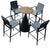 Pre-order 25 days delivery Tango Aluminum  bar table  Aether-bar set-B-table