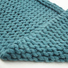 Display Item Handmade Chunky Throw Blanket  093A-004-Green-DISPLAY