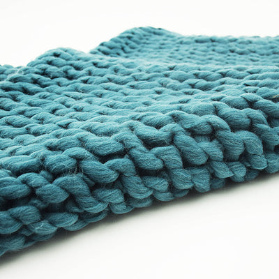 Handmade Chunky Throw Blanket  093A-004-Green