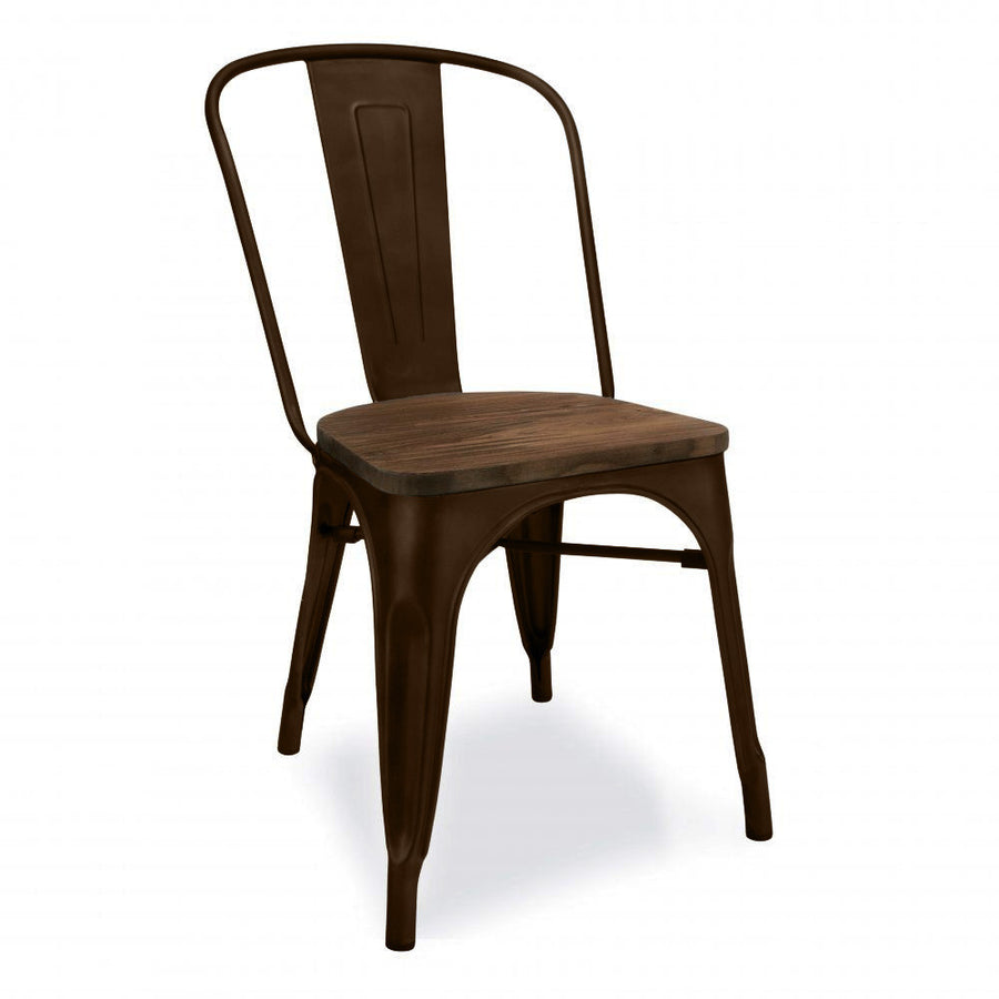 Dinning Chair with solid wood seat TX0076-DBR - ebarza