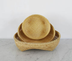 Handwoven Nesting Baskets - Set of 3