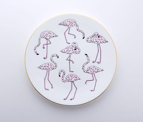 Tropique - Flamingo Coupe Plate 22cm