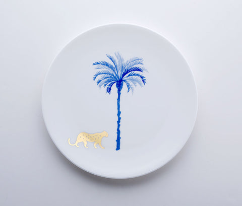 Blue Jungle - Leopard Coupe Plate 22cm