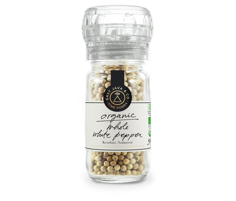 Organic Whole White Pepper Mill - 54g