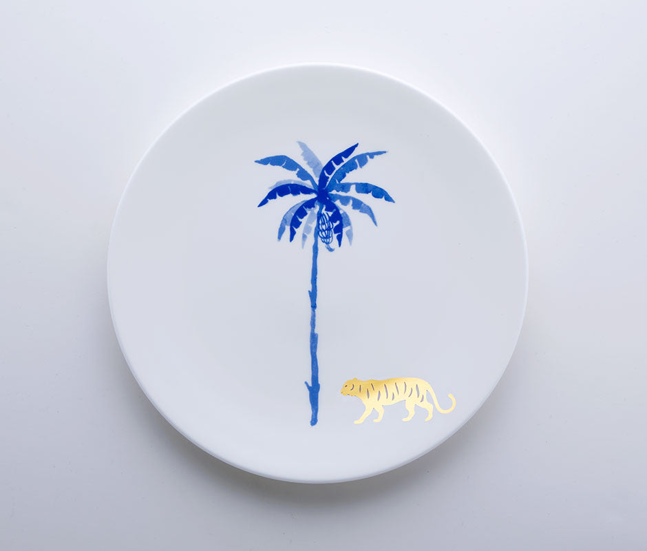 Blue Jungle - Tiger Coupe Plate 22cm