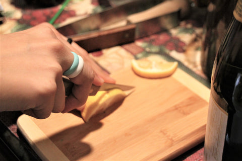 Wear your ALO Premium Silicone rings in the kitchen