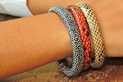 Animal Print Leather Bracelet