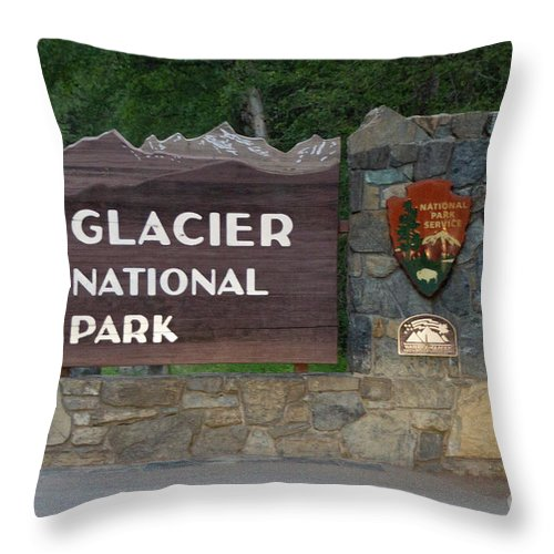 Glacier National Park - Throw Pillow