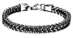 TrendyBracelets.Biz.Black Stainless Steel Bracelet - Dare to Be Different