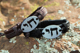 "Chai handmade leather bracelet from www.TrendyBracelets.biz.  Adjustable slipknot bracelet from 6"" to 9""."