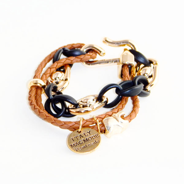 TrendyBracelets.Biz.Fashion Bracelet with Made in Italy Charm