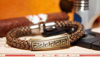 Italian Style Leather Braid Bracelet - get a free ring