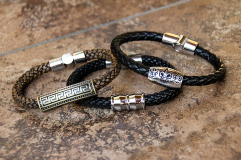 Italian Style Leather Braid Bracelet