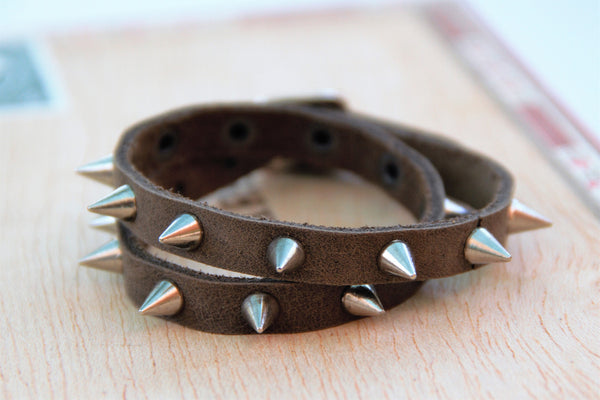 Ladies Wrap Bracelet with Spikes