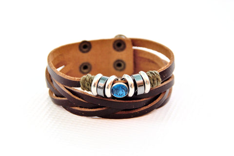 Ladies Gypsy Fashion Leather Bracelet