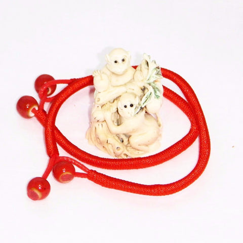 Lucky Red String Ceramic Bead Bracelet