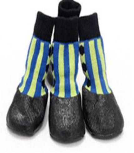 TrendyBracelets.Biz.Waterproof Dog Booties with Rubber Bottoms