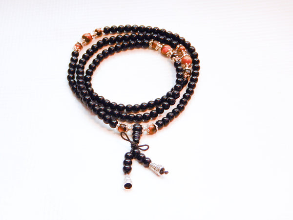 TrendyBracelets.Biz.Buddhist Meditation 108 Prayer Rosewood & Tiger Eye Stone Bead Bracelet & Necklace