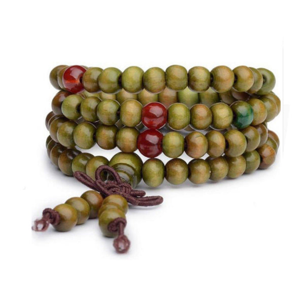 TrendyBracelets.Biz.Buddhist Meditation 108 Prayer Sandalwood Bead Bracelet & Necklace