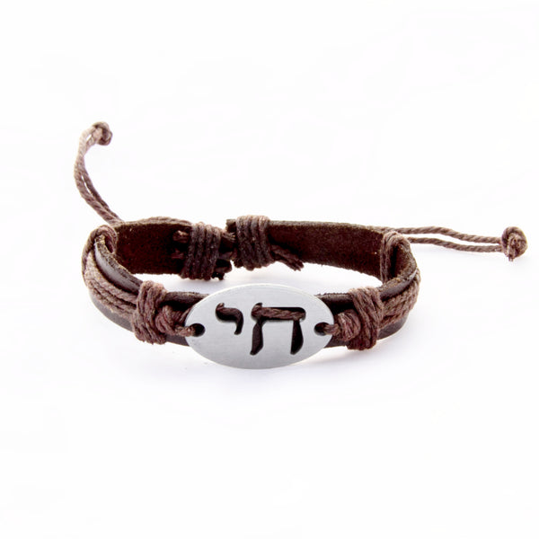 "Special Price - Chai ""Life"" Leather Bracelet - Adjustable Slip Knot"