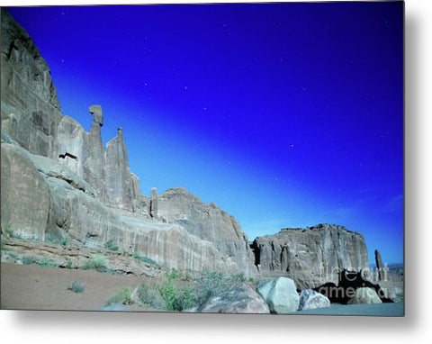 Arches National Park at night - Wall Street - Metal Print
