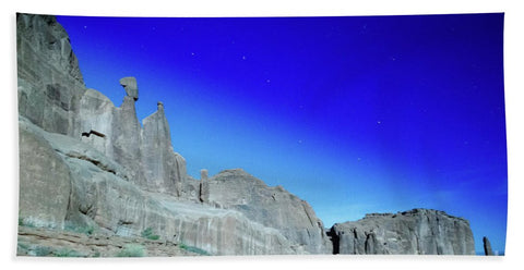 Arches National Park at night - Wall Street - Beach Towel